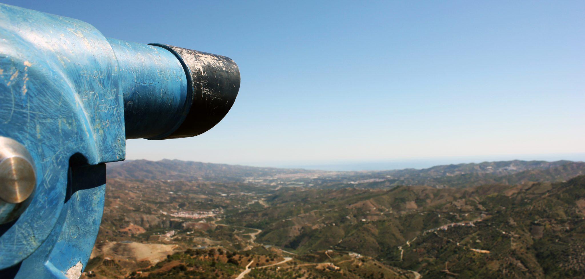 Comares, an incredible views over the mountains into La Axarquía, Málaga